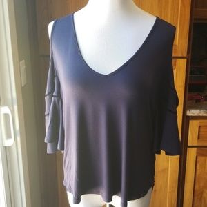 Ella Moss cold shoulder top in navy..perfect